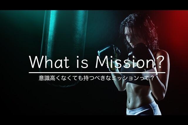 ミッションって何?